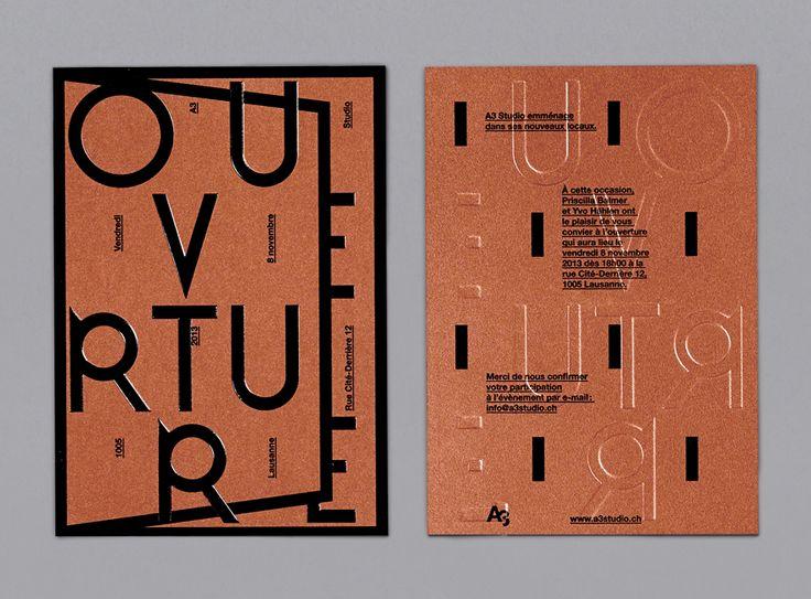 A3 Studio - Openning door invitation - A3 studio