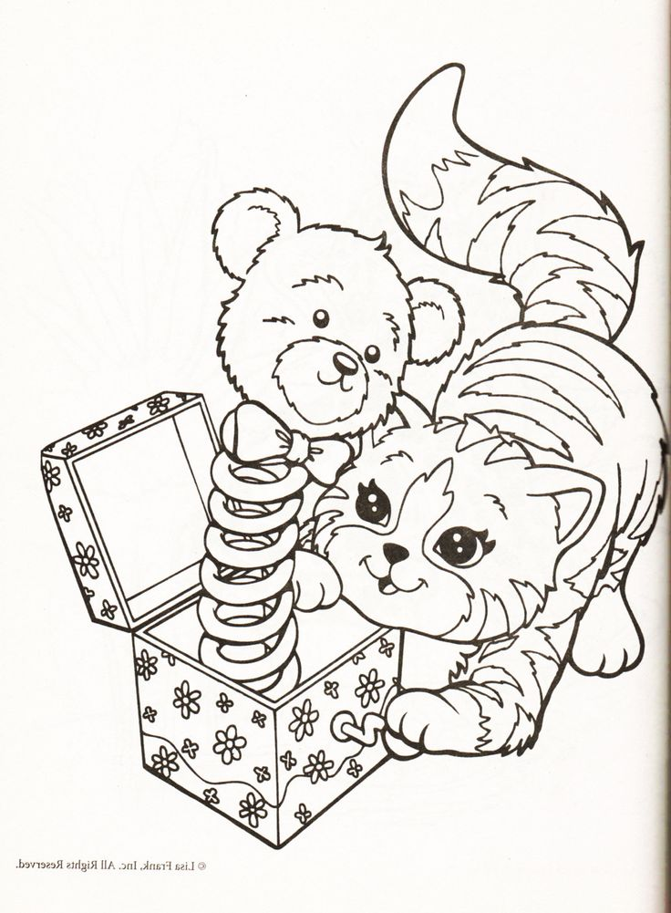 I got my tonsils out a week ago and as an adult it has been incredibly painful and boring. At least there are creepy Lisa Frank coloring pages to cheer things up! That bear is so scary.