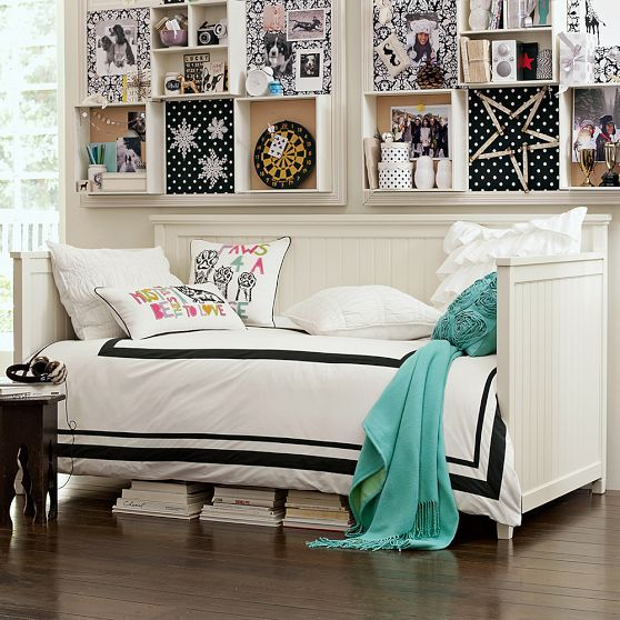For the office/guest room to save some floor space... Beadboard Daybed, Full, White
