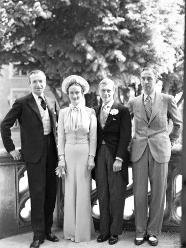 Cecil Beaton, the Duchess of Windsor, the Duke of Windsor and Edward Dudley Metcalfe, England