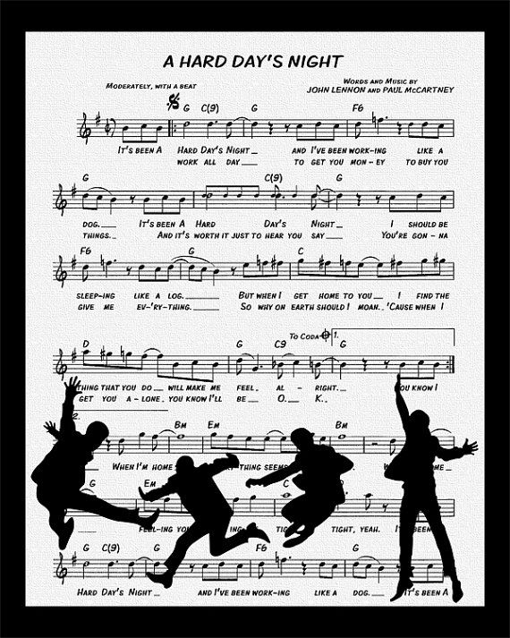 Songtext von The Beatles - A Hard Day's Night Lyrics