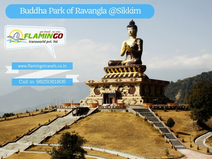 #SikkimTourPackage: Buddha Park of Ravangla also known as Tathagata Tsal, is situated near Rabong (Ravangla) in South Sikkim, India.