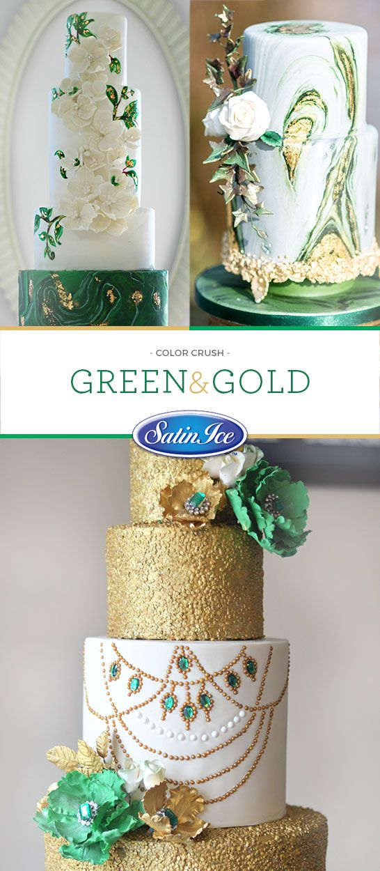 This lively green is the perfect complement to touches of gold!