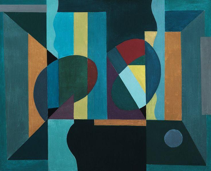 Sam Vanni: Sommitelma, 1952, öljy, 59x74 cm - Hagelstam K138