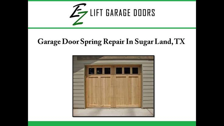 If you are looking for garage door repair services in Sugar Land, TX, consider EZ Lift Garage Doors. The professionals are well trained to detect and fix the problems in the garage door.  To know more about the garage door spring repair services provided in Sugar Land, visit : http://www.ezohd.com