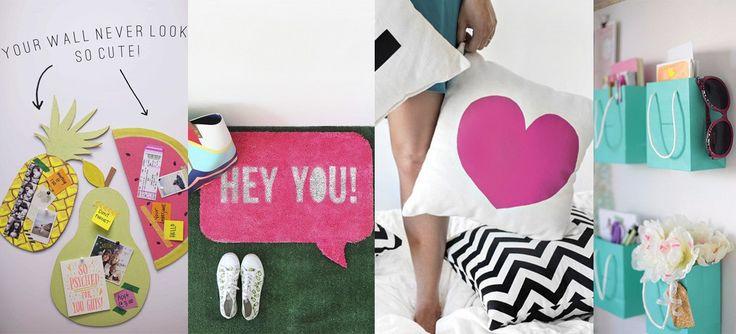 DIY: 15 coloridas y divertidas ideas de decoración que toda chica amará