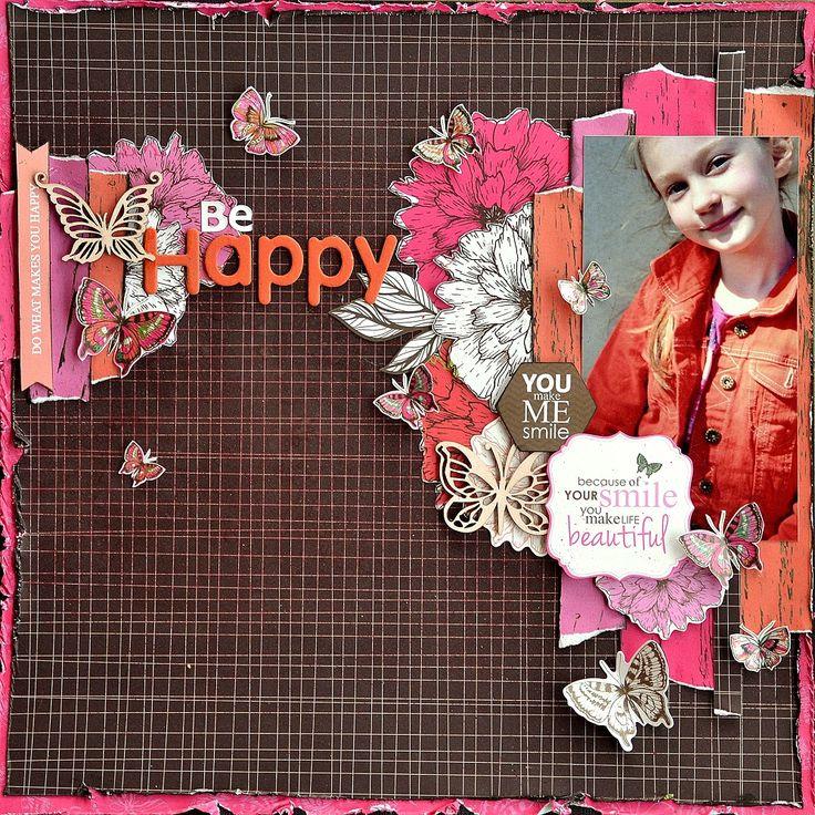 Стильная страничка для девочки. Эта коллекция в Scrapbook.kz: http://www.scrapbook.kz/products/79/