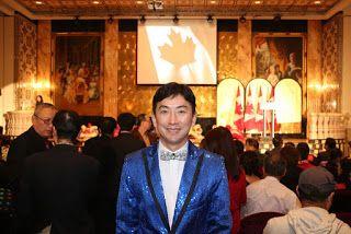 Artist Peter Suk Sin Chan  畫家 陳叔善: 畫家陳叔善為加拿大國防部長 Mr. Jason Kenney 晚會演唱的歌曲之1