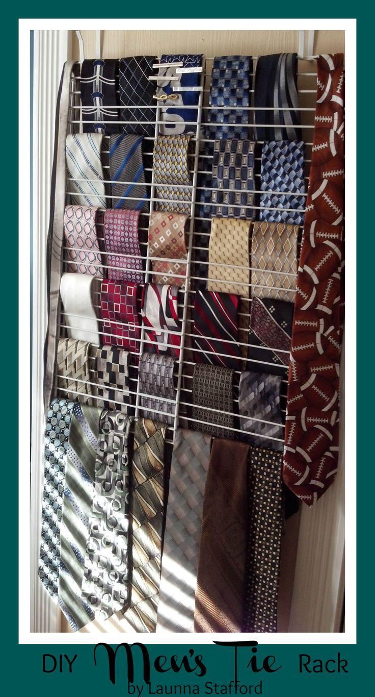 Easy Diy Tie Rack Supplies 2 Wire Closet Racks Shelves