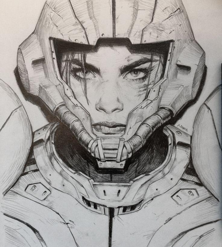 Metroid, Andrew Doma on ArtStation at https://www.artstation.com/artwork/lNBbJ