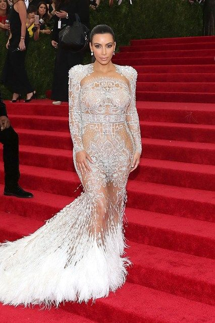 Kim Kardashain in Roberto Cavalli by Peter Dundas - not much dress, just sequins