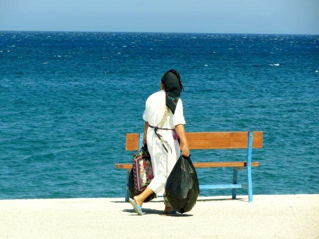 Signora di Olympos.Mare blue. #karpathos #Olympos #Colours #Greece
