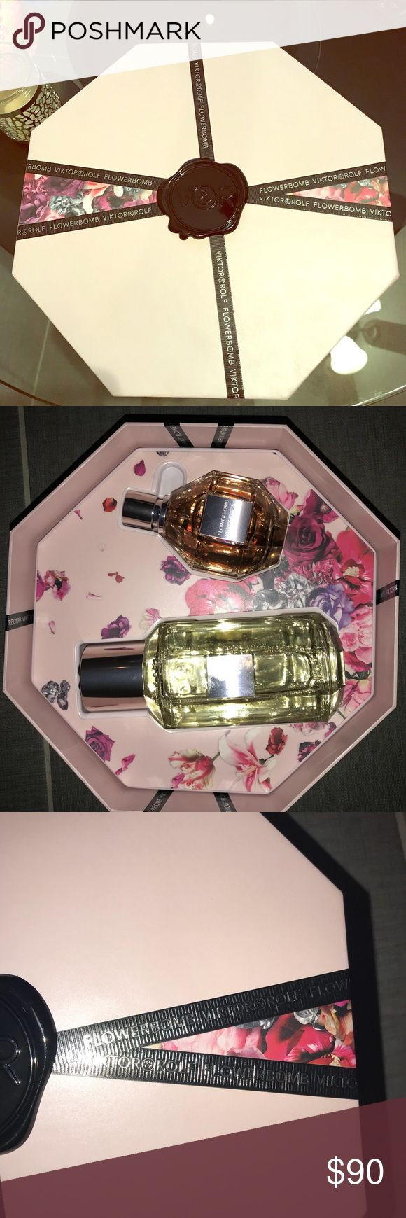 Viktor&Rolf Flowerbomb Perfume gift set Gift set includes : eau de parfum (3.4 fl oz) and bomblicious foaming bath (10.3 fl oz) Brand new , never used Viktor & Rolf Other