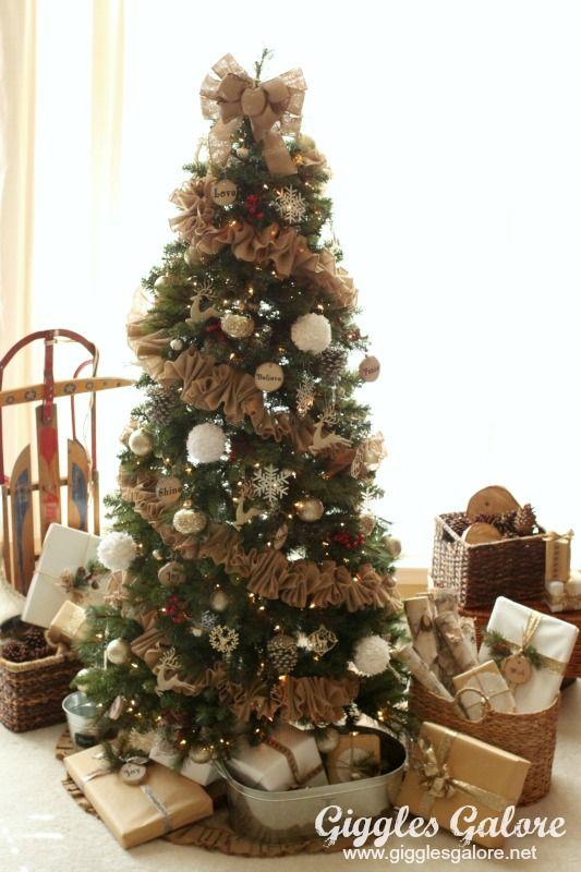 1000 ideas about burlap garland on pinterest garlands for Christmas tree garland ideas