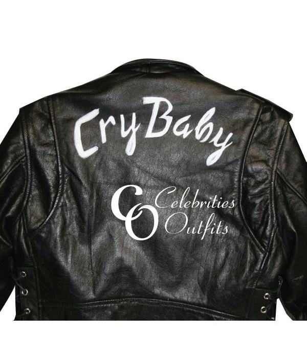 Cry Baby Movie Johnny Depp Wade Walker Motorcycle Jacket In 2020 Baby Leather Jacket Cry Baby Movie Baby Jacket