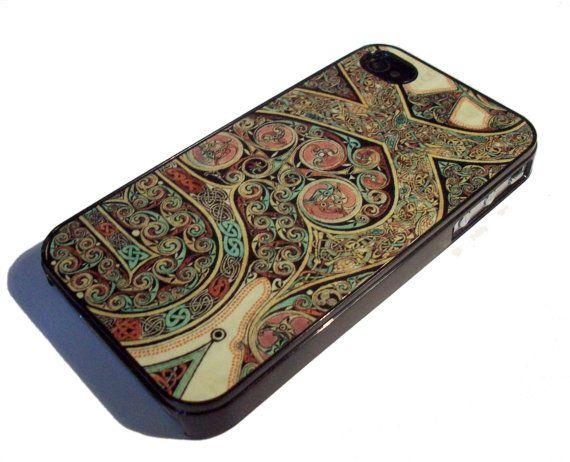 iPhone 4 4S case  Lindisfarne Gospels by GelertDesign on Etsy, £7.00