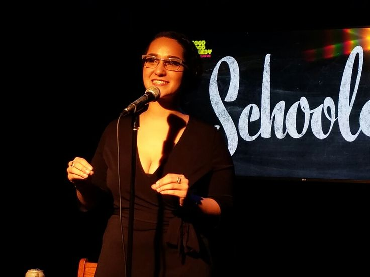 Philadelphia comedian, storyteller, and writer Alyssa al-Dookhi tells her story on the February edition of Schooled at the Good Good Comedy Theater.