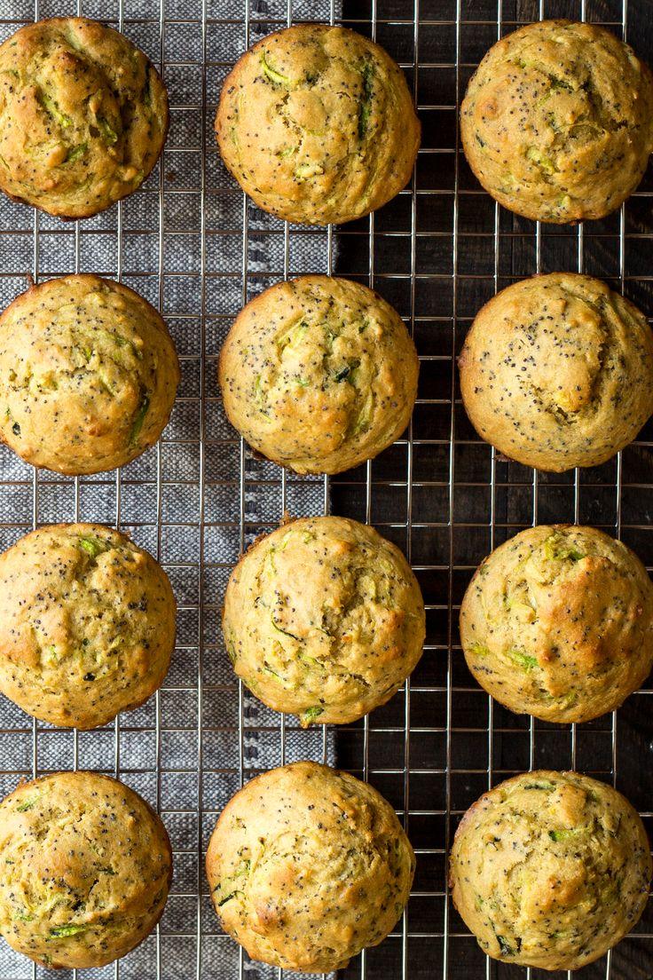 Lemon Poppy Seed Zucchini Muffins | Dishing Up the Dirt | Bloglovin'