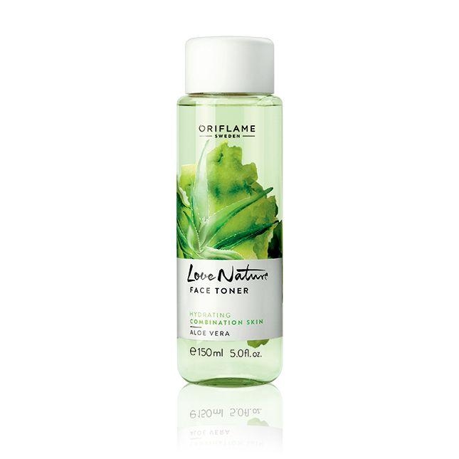 Tónico con Aloe Vera Love Nature #oriflame Tónico revitalizante con extracto de Aloe Vera que equiliba el pH de la piel devolviéndole su nivel de hidratación.