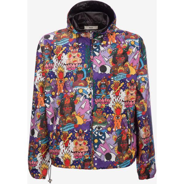 Bally Swizz Beatz Printed Windbreaker Men's nylon windbreaker jacket... ($895) ❤ liked on Polyvore featuring men's fashion, men's clothing, men's outerwear, men's jackets, mens nylon windbreaker, mens nylon windbreaker jackets, mens leopard print jacket and mens jackets