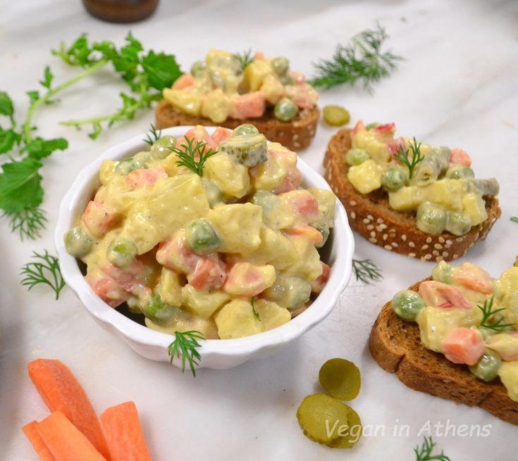 Vegan Russian salad