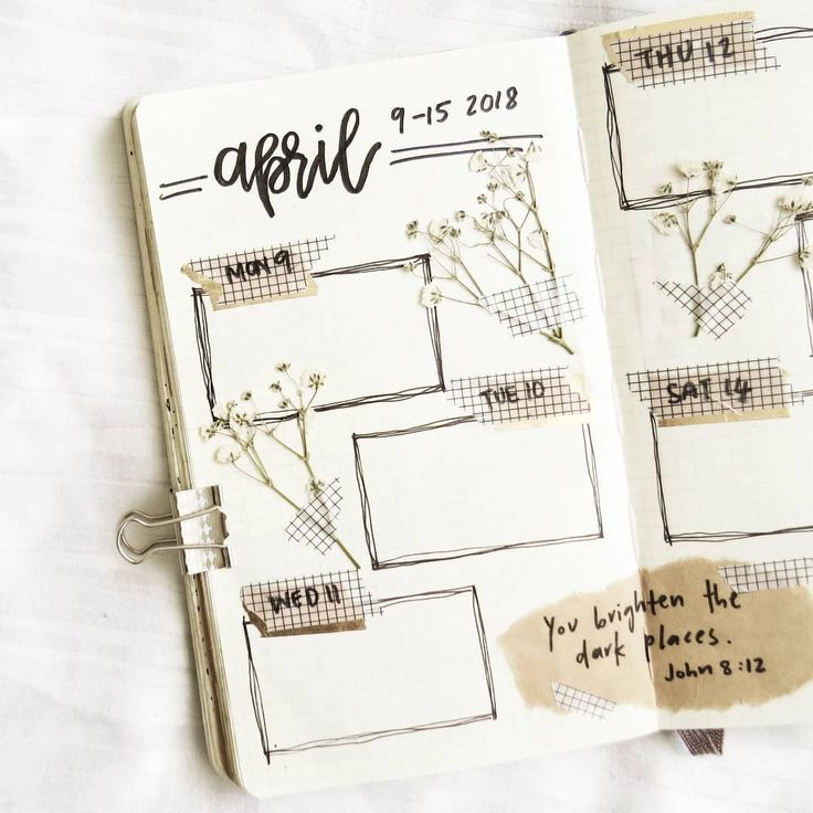 Bullet journal weekly layout, hand lettering. | reverie & repose