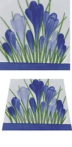 BEAUTIFUL CLARICE CLIFF BLUE CROCUS DESIGN CERAMIC TILE TEAPOT PLANT STAND