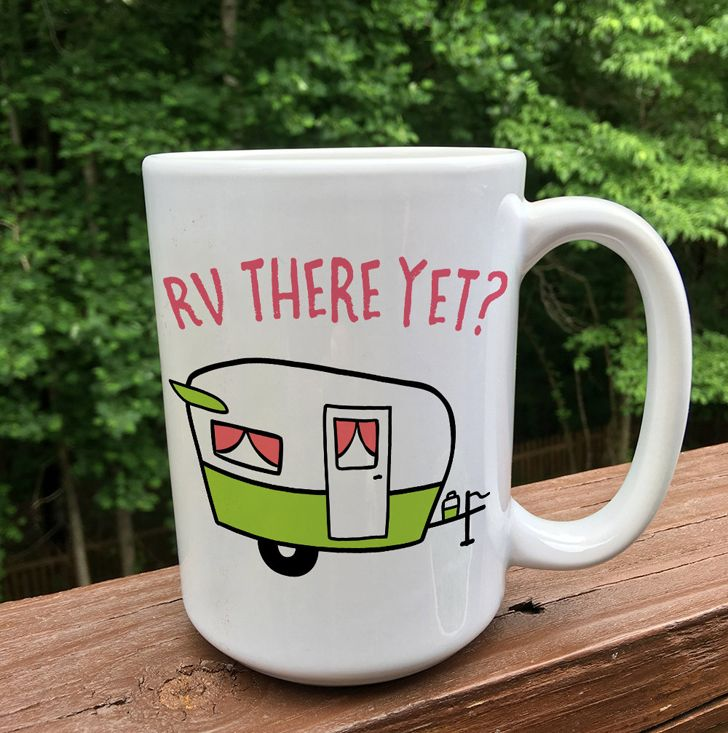 camping mug - humour, RV funny humor, camping and RV quotes