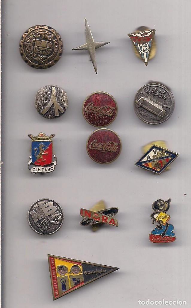 EL CORTE INGLE, VILLANUEVA Y GELTRU, COCACOLA, O.J.E., FALANGE, CINZANO, INGRA.  PINS Y SOLAPA