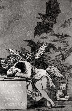 The Sleep of Reason Produces Monsters, from 'Los Caprichos' Giclee Print