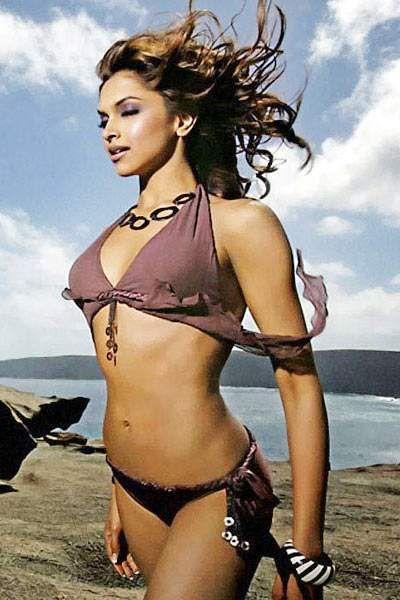 Bollywood's leggy lass Deepika Padukone poses in a bikini