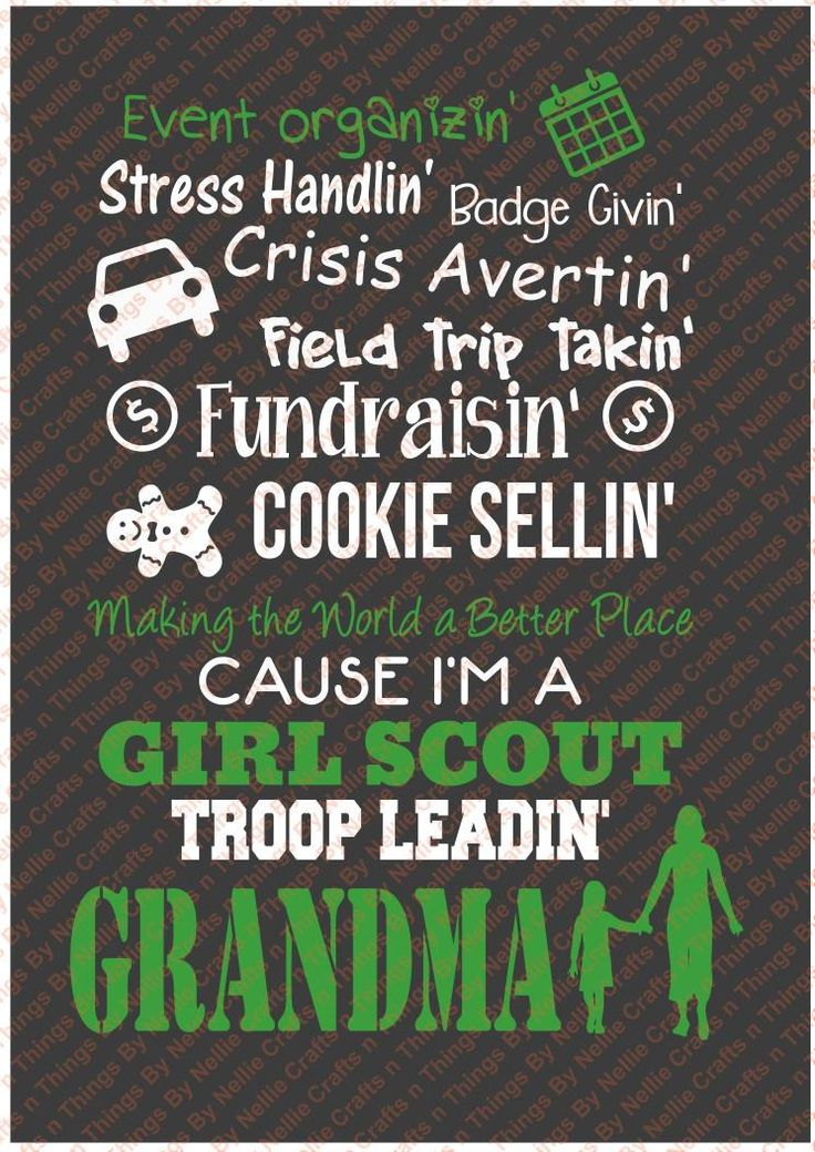 Girl Scout Grandma SVG by CraftsnThingsByNelly on Etsy