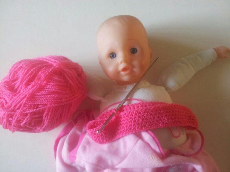 Jurkje haken voor m'n meisje haar babypop  #madebysonneke30