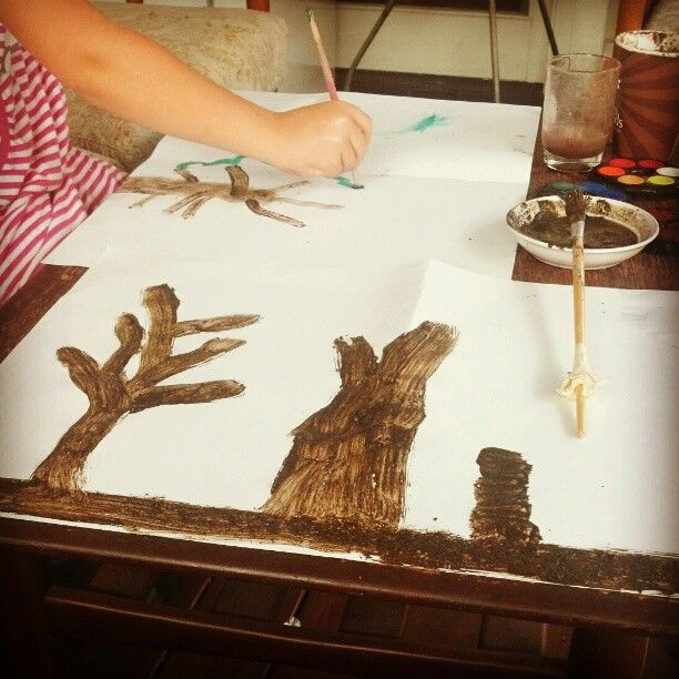 Stone Age Art Making ...Painting with mud