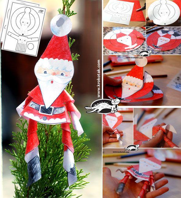 Paper Santas