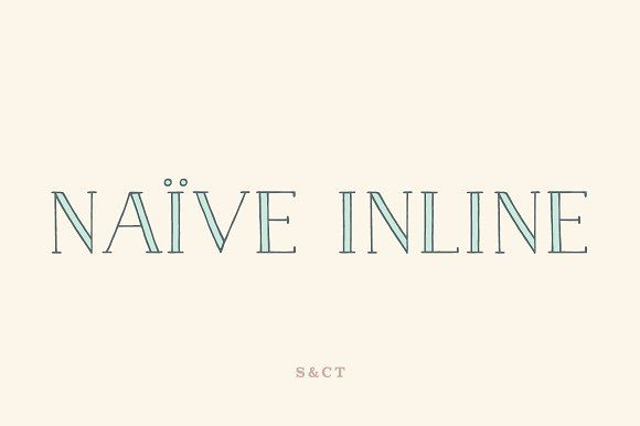 Naive Inline Font Pack by S&C Type on @creativemarket
