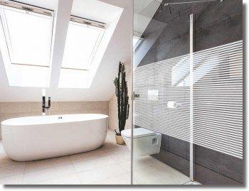 Fenster Dekorfolie WHITE LINES 10 mm