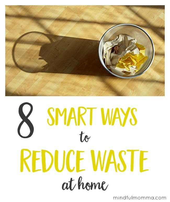 8 Smart Ways to Reduce Waste at Home - Help the planet and save money too with these easy frugal tips! | green living | #zerowaste #ecofriendly