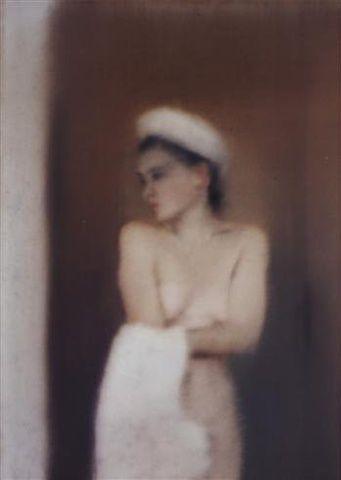 Gerhard Richter, Kleine Badende, 1996 at www.meadcarney.com  #GerhardRichter #MeadCarney #London #art #artgallery #painting #woman #nude