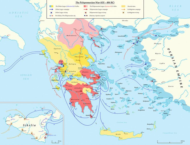 =================== The Peloponnesian War (431 – 404 BC) The decisive victories of the Greek coalition forces against Persia (480 − 479 BC) calmed the Persian pressure upon the Greek wo...