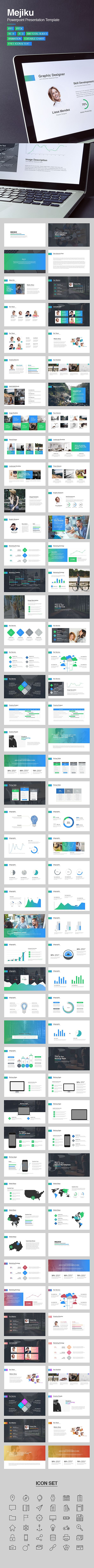 Business or Personal Project Powerpoint Presentation Template #design #slides Download: http://graphicriver.net/item/mejiku-powerpoint-template/14341232?ref=ksioks