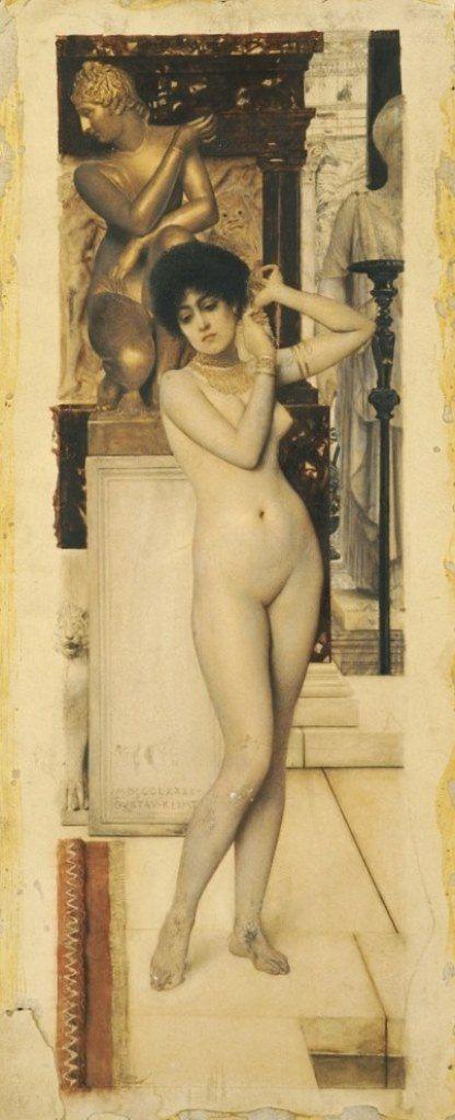 Gustav Klimt -Vienna Secession & Art Nouveau - Allégorie de la Sculpture 1890