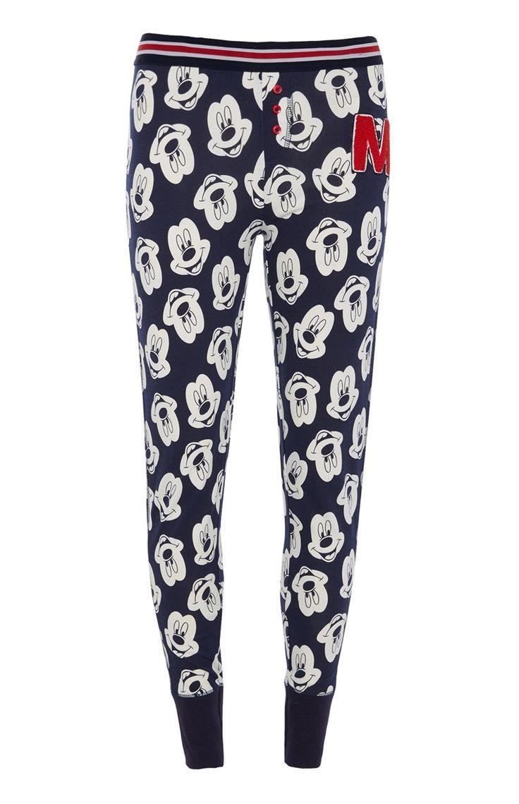 Blauwe legging met Mickey Mouse-print