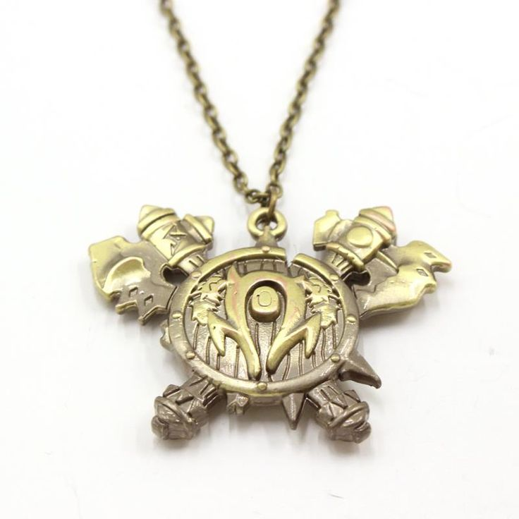 Buy World of Warcraft WoW Orc Crest Horde Vintage Necklace Orcish Pendant online $10.50 with FREE shipping!!    #warcraft #worldofwarcraft #warcraftmovie #wowaddict #warlordsofdraenor #frostmourne #horde #alliance #blizzard #warcraftaddict #forthealliance #forthehorde #azeroth #heartstone #overwatch #videogames #gameaddict