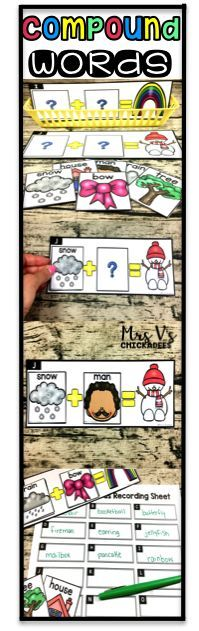 Compound words hands on activity perfect for phonics centers, literacy stations, word work, guided reading group extensions and more. A great game for multiple grades: Kindergarten | First Grade | 2nd