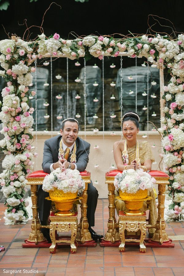 Indian Thai  bride and groom. http://www.maharaniweddings.com/gallery/photo/136480