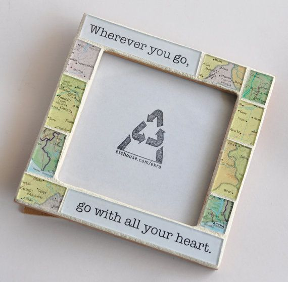 18 best moving away gifts images on pinterest hand made gifts moving away gift map frame wherever you go go with all your heart solutioingenieria Choice Image