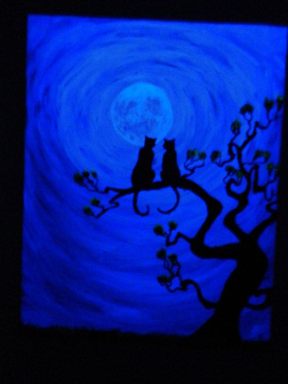 Cats in a  UV painting by SmARTcraftBoutique on Etsy