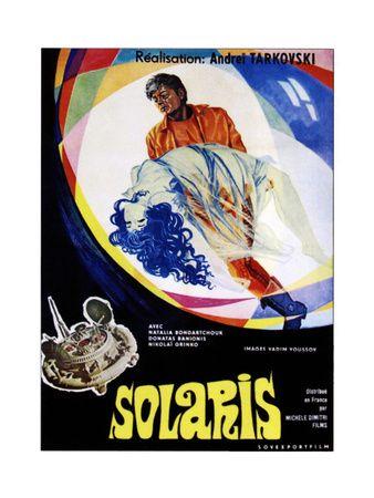 Solaris (AKA Solyaris), from Top: Donatas Banionis, Natalya Bondarchuk on Russian Poster Art, 1972 Giclée-tryk