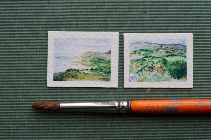 Miniature Water Color Paintings For Dollhouse by FairytaleSaara on Etsy